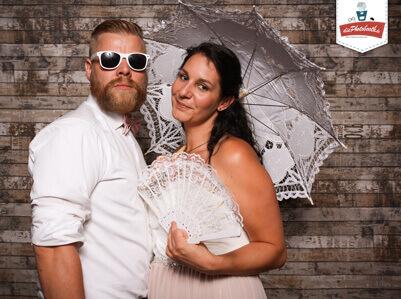 Fotobox Bilder an einer Hochzeit
