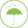Wettergeschützter Bereich für die Fotobox
